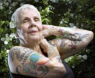 hippy grandmother tattooed