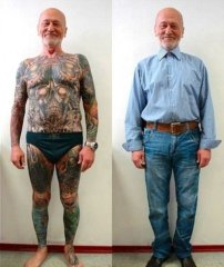 grandfather tattooed