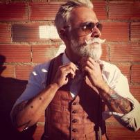 cool grandfather tattooed