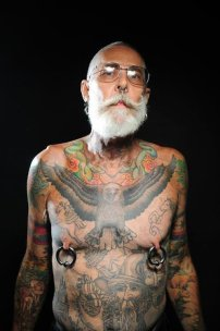 cool grandfather tattooed2