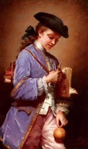 Jeanne Bole: L'Enfant au Bilboquet (19. Jahrhundert)