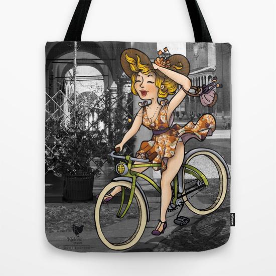 totebag kleland bicicletta