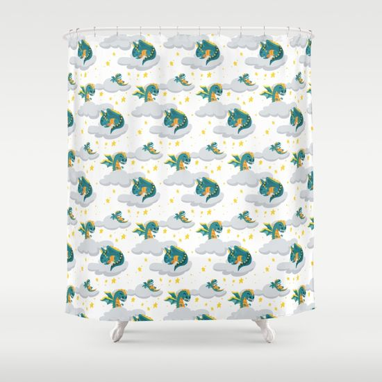 blu-dragon-shower-curtains