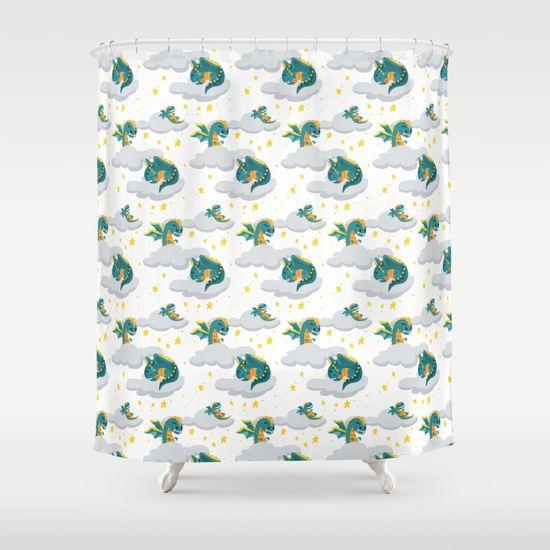 blu-dragon-shower-curtains
